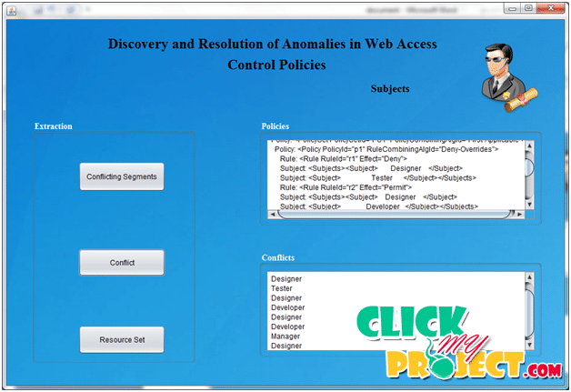 Discovery and Resolution of Anomalies in Web Access Control Policies