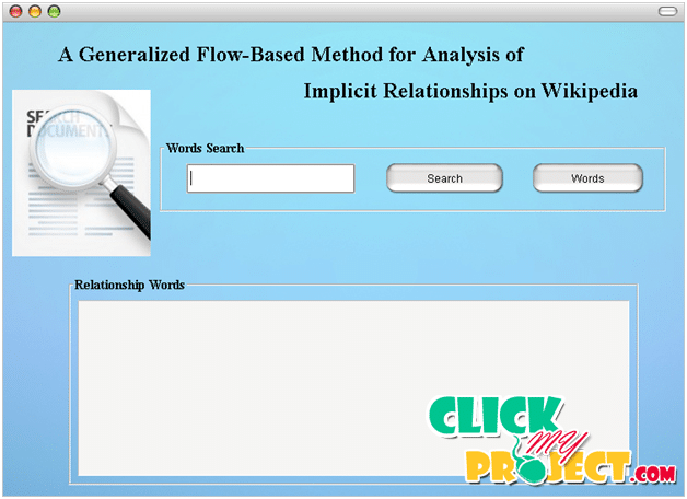 A Generalized Flow-Based M ethod for Analysis of Implicit Relationships on Wikipedia