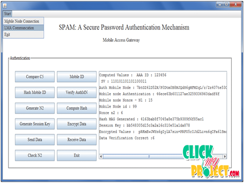 SPAM: A Secure Password Authentication Mechanism for Seamless Handover in Proxy Mobile IPv6 Networks | 2014 Projects