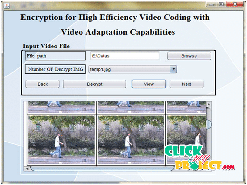 Encryption for High Ef? ficiency Video Coding with Video Adaptation Capabilities | 2014 Projects