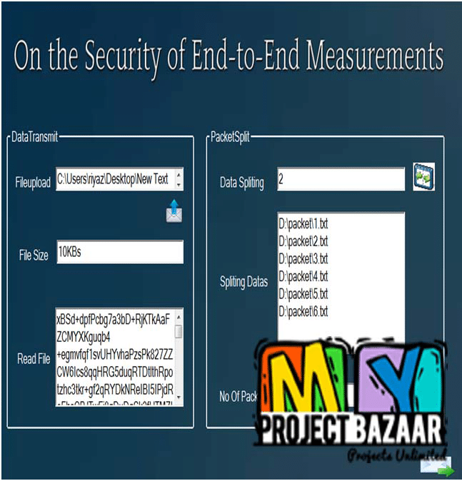 On the Security of End-to-End Measurements Based on Packet-Pair Dispersions | 2014 Projects