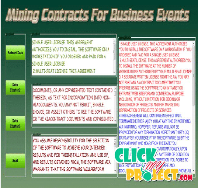 Mining Contracts for Business Events and Temporal Constraints in Service Engagements| 2014 Projects
