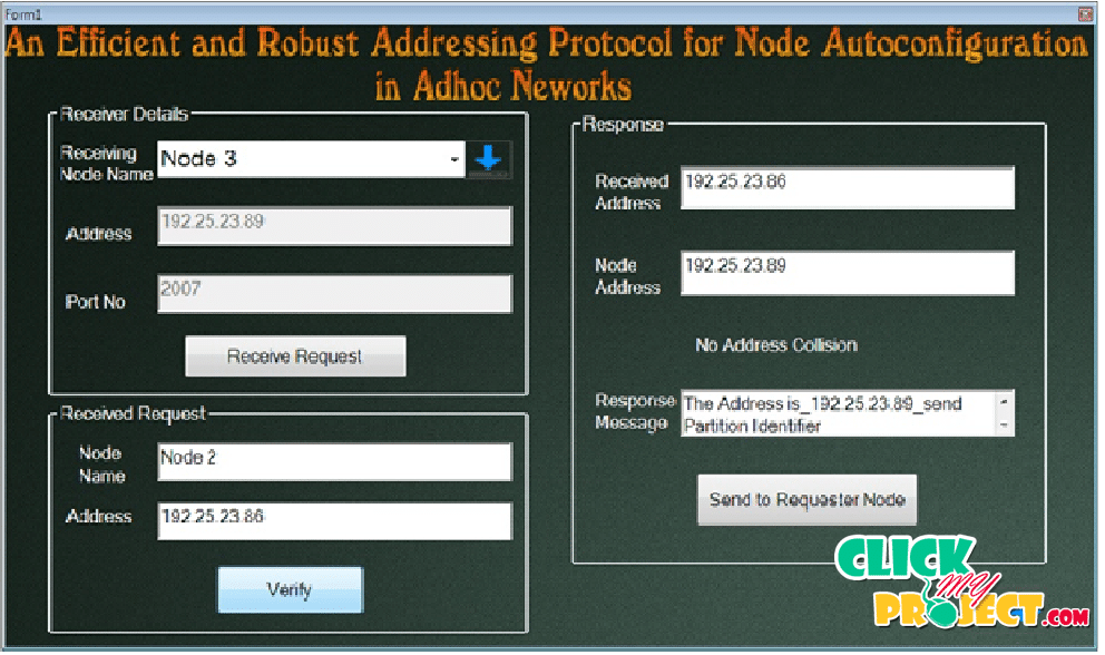 An Efficient and Robust Addressing Protocol for Node Autoconfiguration in Ad Hoc Networks | 2014 Projects