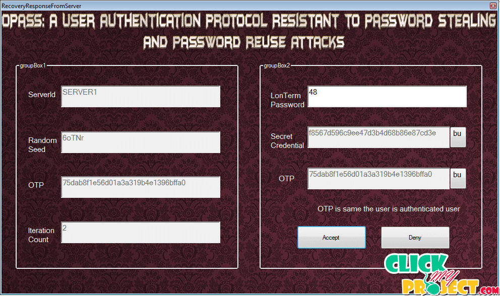 oPass: A User Authentication Protocol Resistant to Password Stealing and Password Reuse Attacks | 2014 Projects