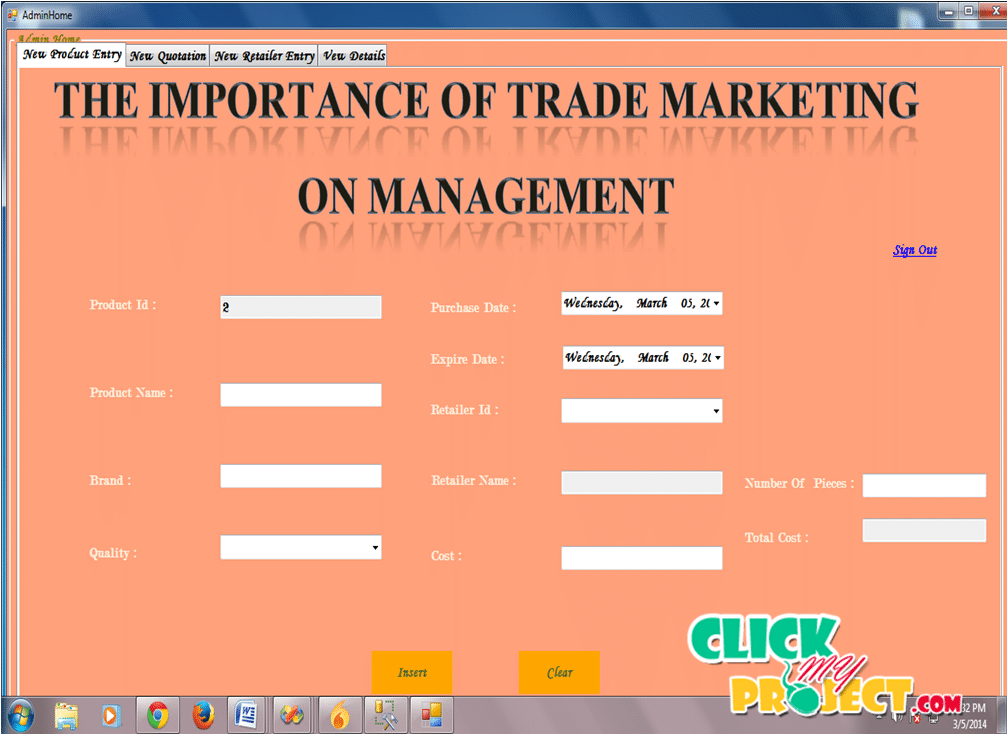 The Importance Of Trade Marketing On Management | 2014 Projects