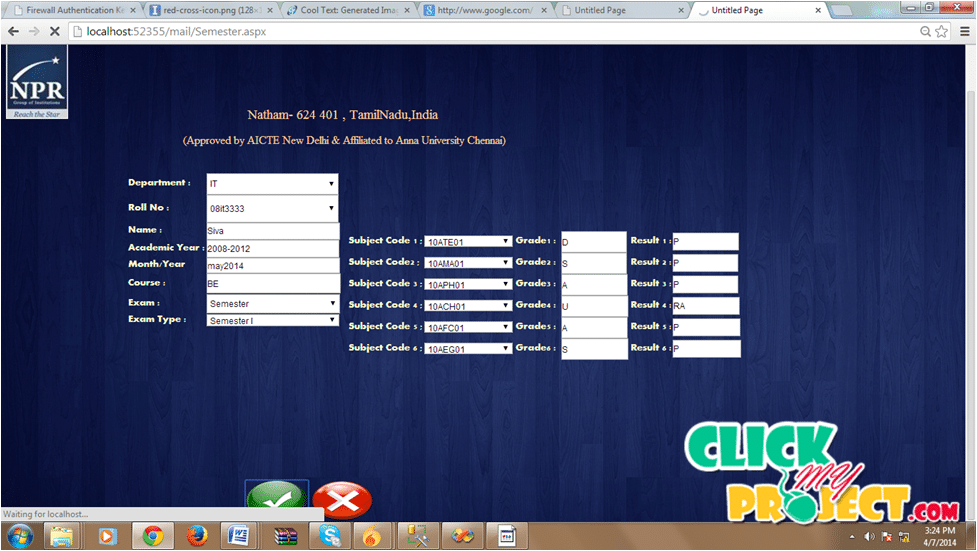 Student Portal Management System| 2014 Projects