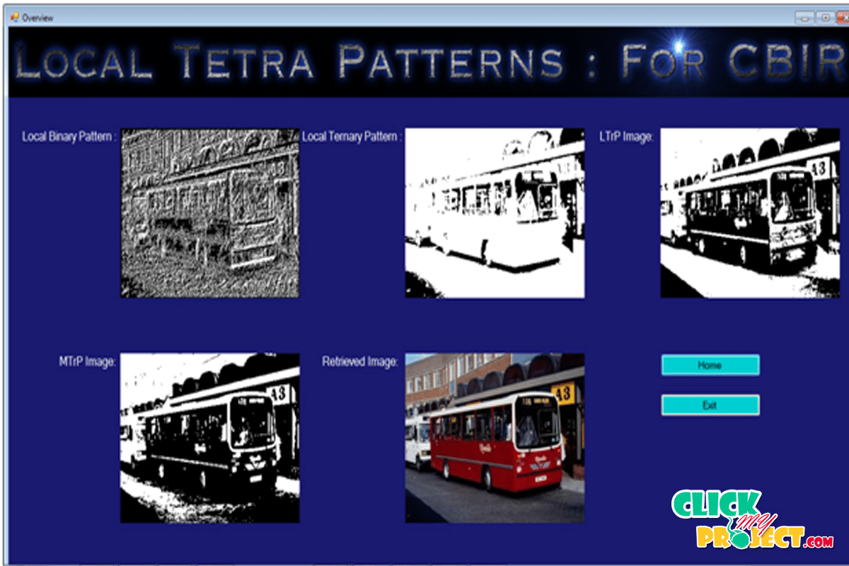 Local Tetra Patterns: A New Feature Descriptor for Content-Based Image Retrieval| 2014 Projects
