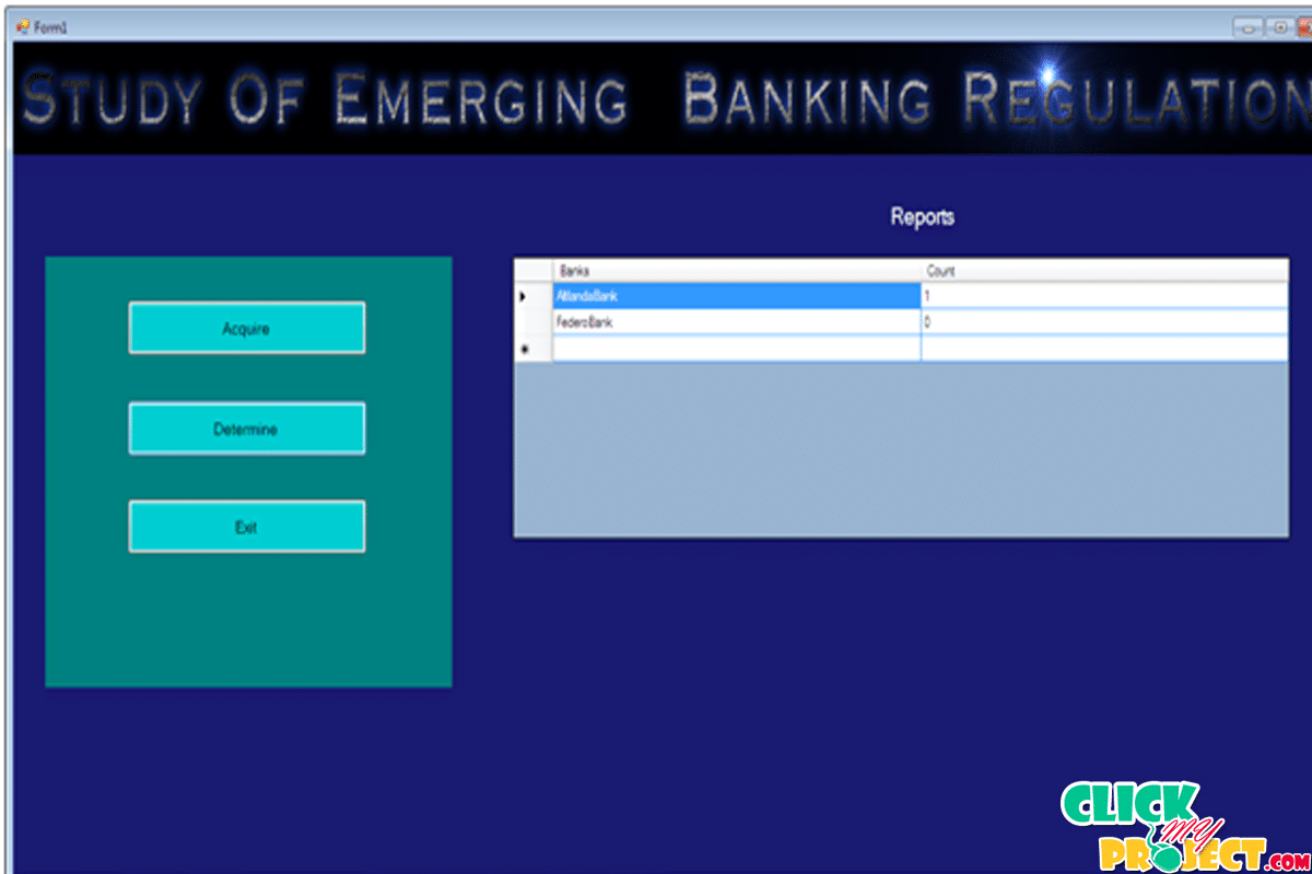 Study of emerging Banking Regulation | 2014 Projects