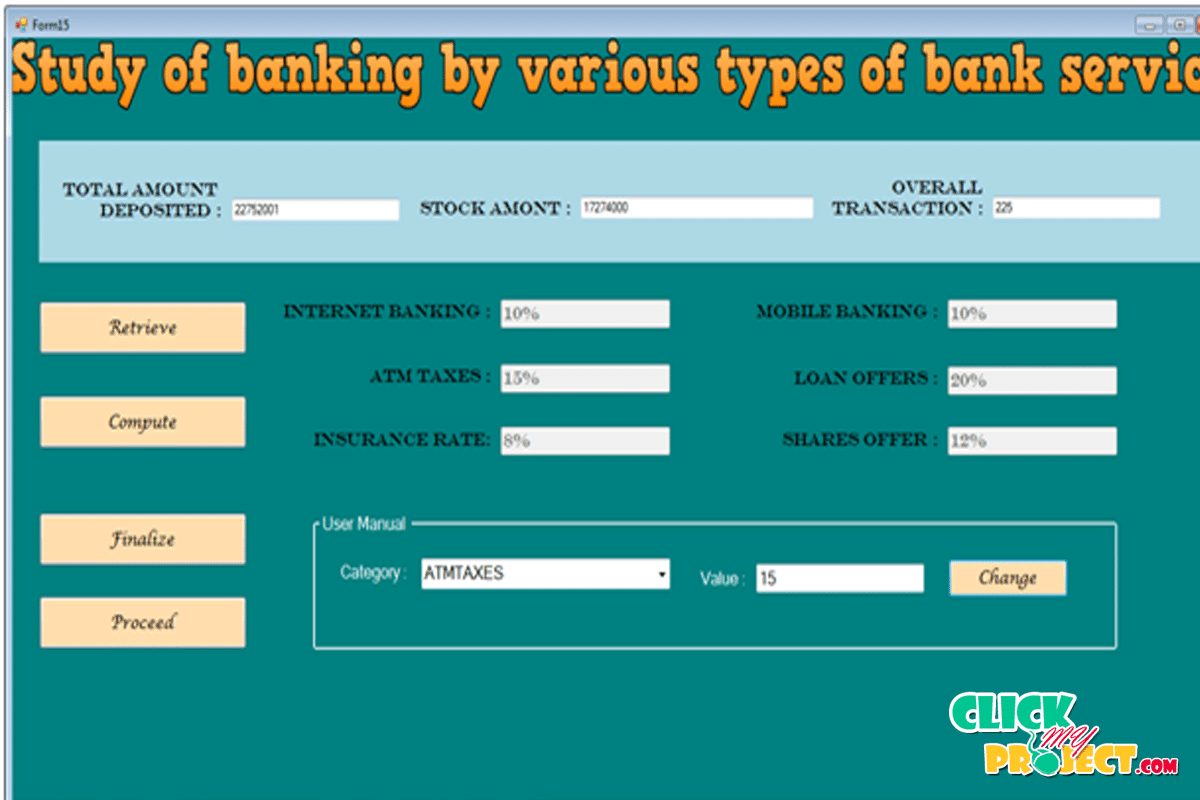 Study Of Bank By various type of bank services| 2014 Projects