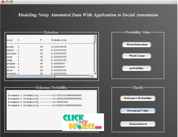 Modeling Noisy Annotated Data with Application to Social Annotation| 2014 Projects