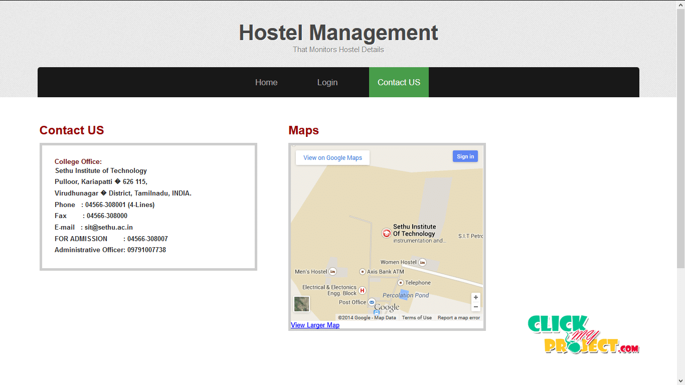 Hostel Management System| 2014 Projects