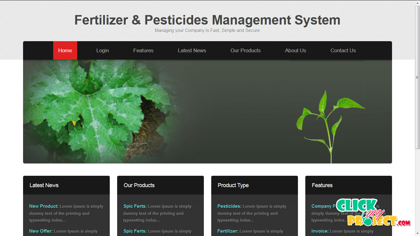 Fertilizer and Pestiside Management| 2014 Projects