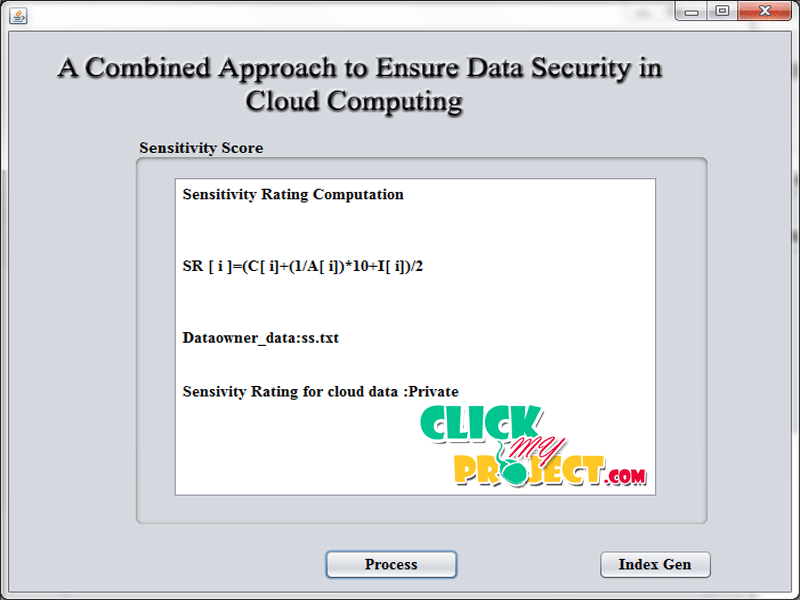 A combined approach to ensure data security in cloud computing| 2014 Projects