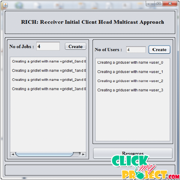 Rich Receiver initial client head multicast approach for grid application | 2014 Projects
