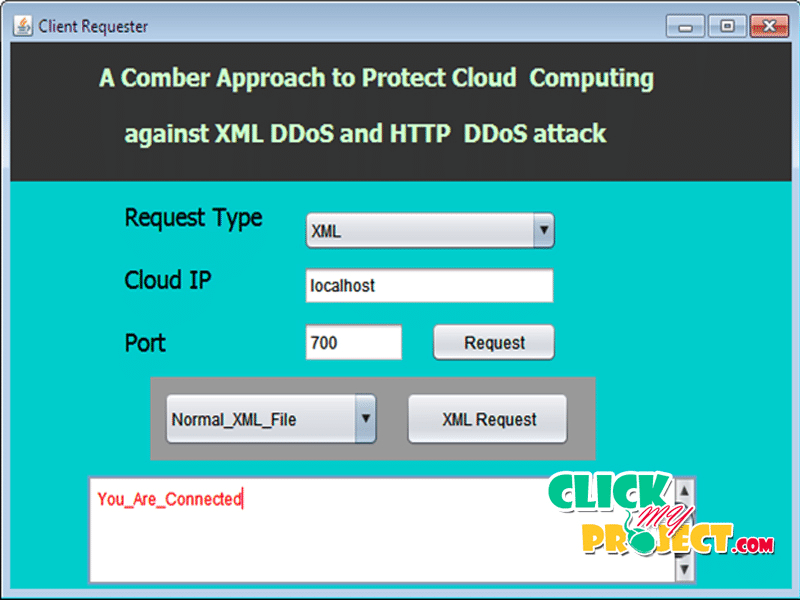 A Comber Approach to Protect Cloud Computing against XML DDoS and HTTP DDoS attack | 2014 Projects