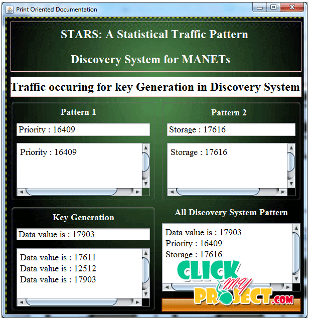 STARS: A Statistical Traffic Pattern Discovery System for MANETs