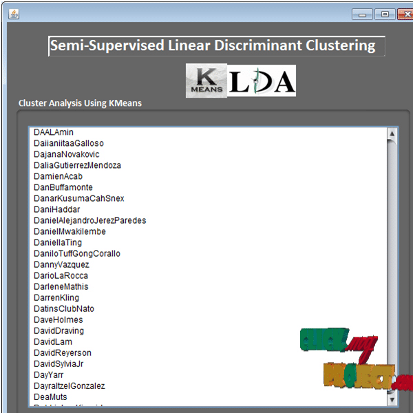 Semi-supervised Linear Discriminant Clustering
