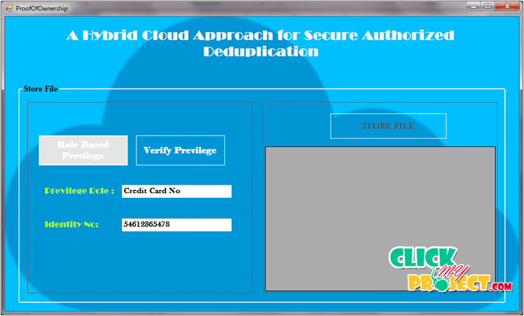 A HYBRID CLOUD APPROACH FOR SECURE AUTHORIZED DEDUPLICATION | 2015 Projects