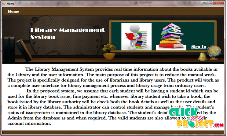 LIBRARY MANAGEMENT SYSTEM | 2015 Projects