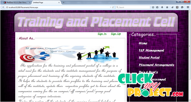 Training And Placement Portal | 2015 Projects