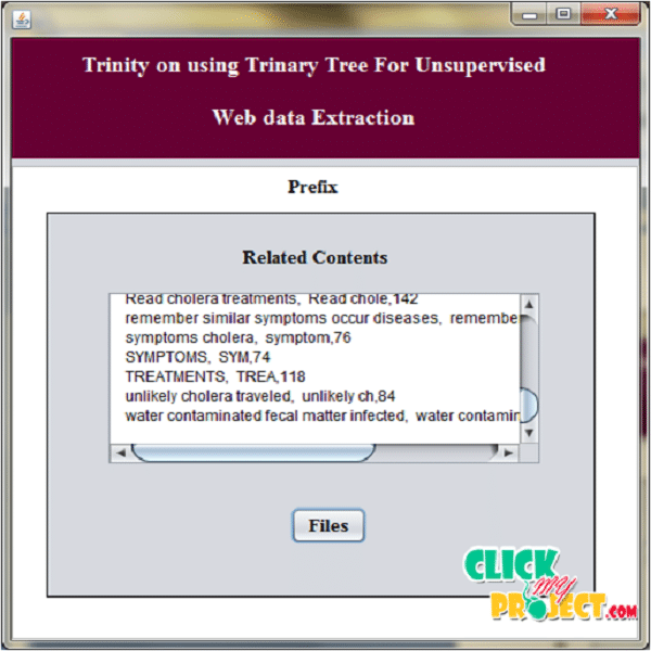 Trinity: On Using Trinary Trees for Unsupervised Web Data Extraction | 2015 Projects