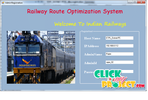 Rail Route Optimization System | 2015 Projects