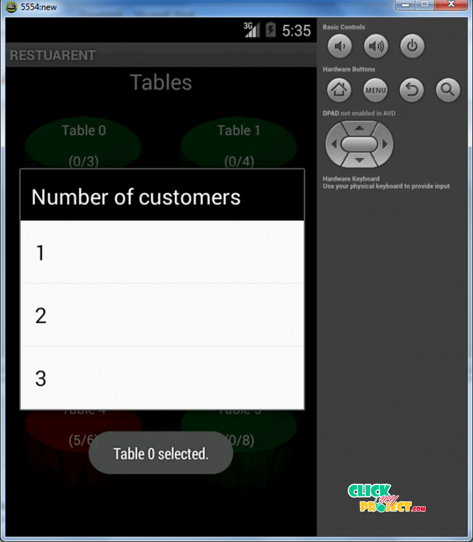 Digital Ordering System for Restaurant | 2015 Projects