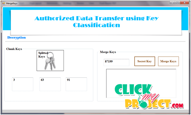 Authorized Data Transfer using Key Classification | 2015 Projects