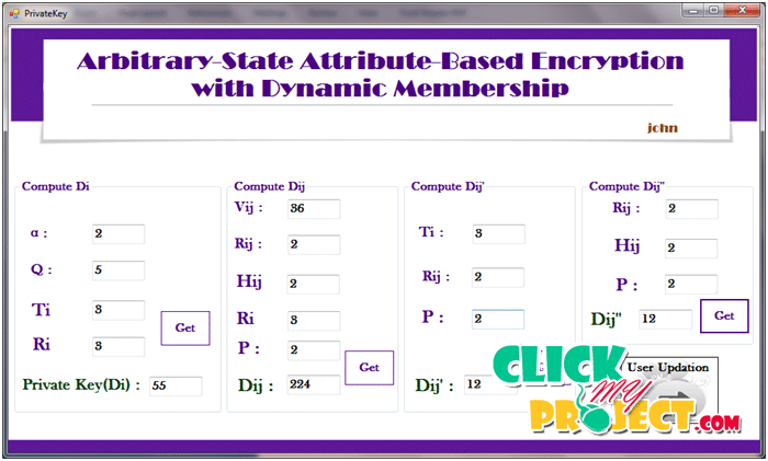 Attribute Based Encryption with dynamic membership | 2015 Projects