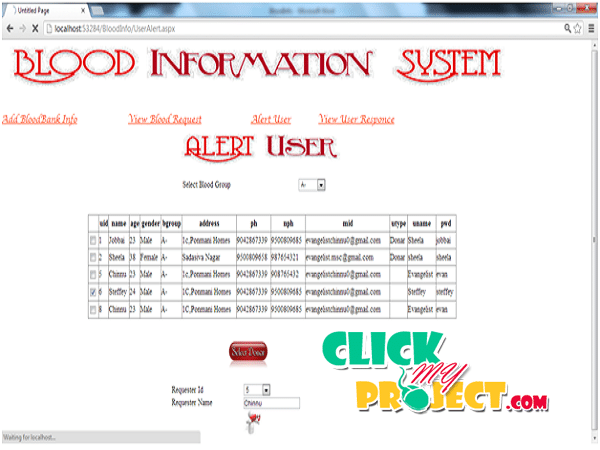 Blood Information System