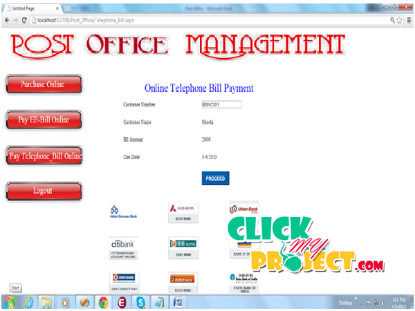 Post Office Management System