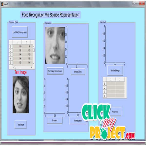 Face Recognition via sparse matrix