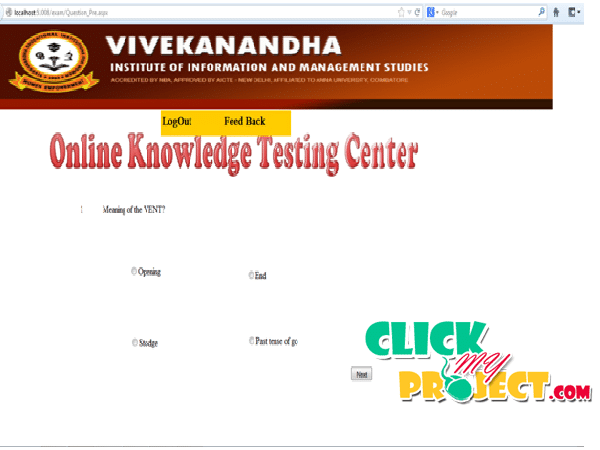 Online Knowledge testing Center