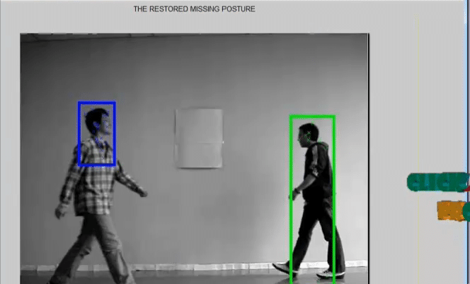 Human Object Inpainting using Manifold Learning-Based Posture Sequence Estimation