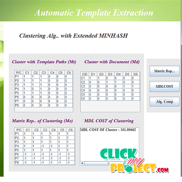 TEXT: Automatic Template Extraction from Heterogeneous Web Pages