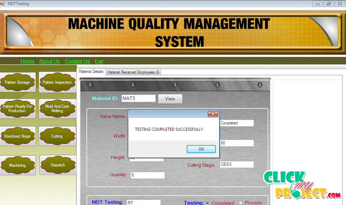 Machine Quality Assurance System Design And Technology
