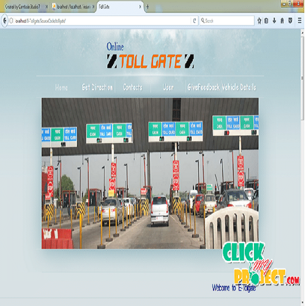 E-Management of Tollgate and Vehicle Tracking System