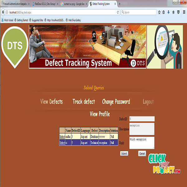 Online Defect tracking System