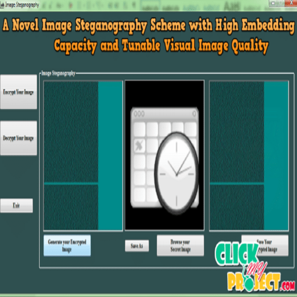 A novel image steganography scheme with high embedding capacity and tunable visual image quality based on a genetic algorithm