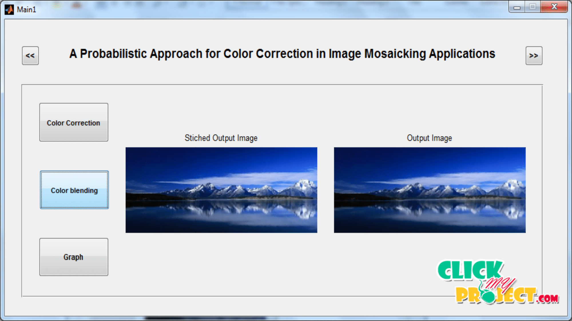 A Probabilistic Approach for Color Correction in Image Mosaicking Applications