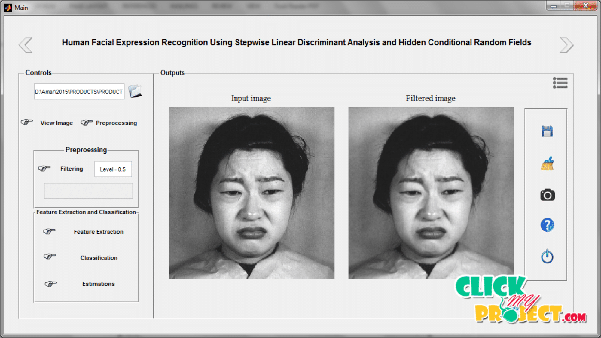Human Facial Expression Recognition Using Stepwise Linear Discriminant Analysis and Hidden Conditional Random Fields