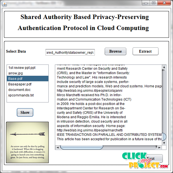 Shared Authority Based Privacy-Preserving Authentication Protocol in Cloud Computing - Click Image to Close