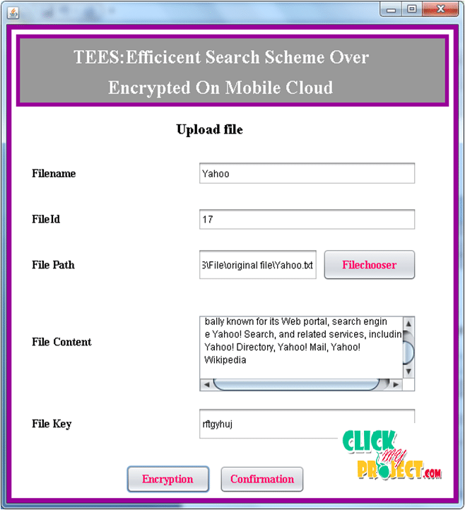TEES: An Efficient Search Scheme over Encrypted Data on Mobile Cloud - Click Image to Close
